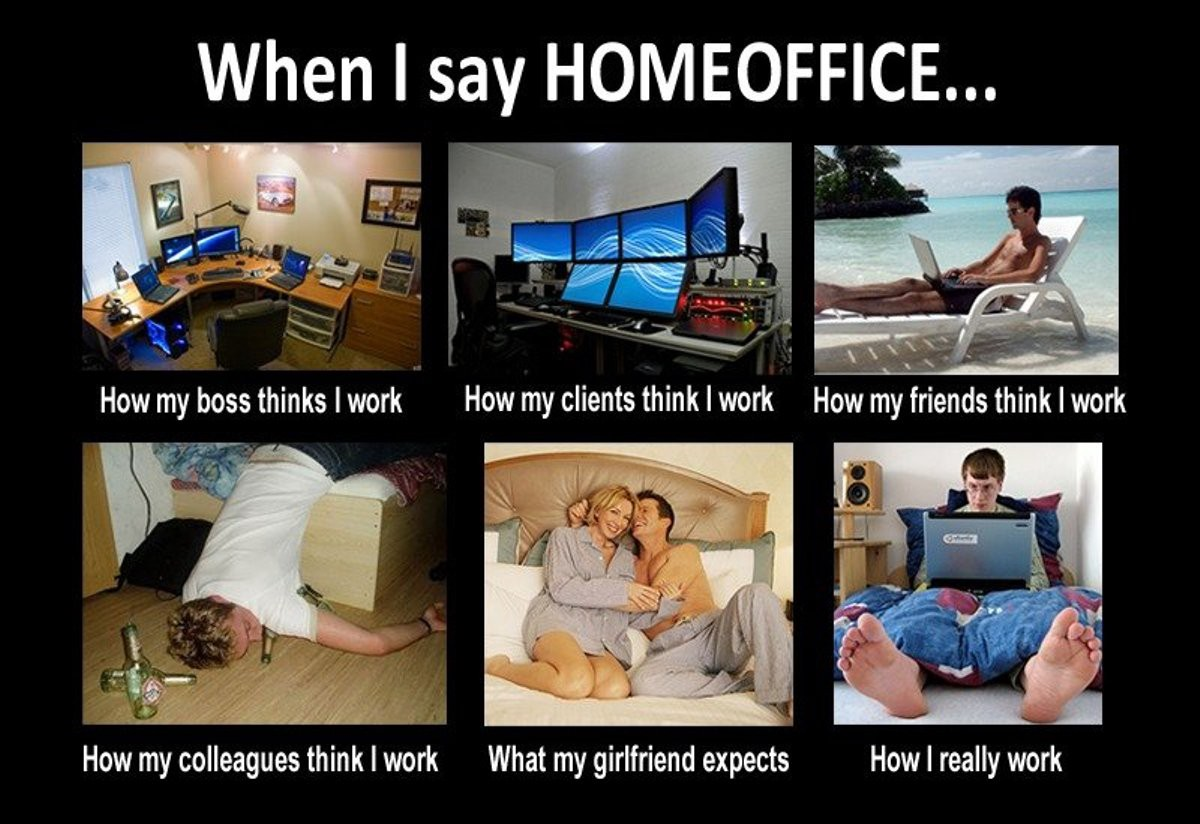 10 practical reasons why i stopped working from home for Work from home pictures