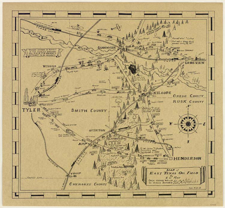 Map Of East Texas Oil Field Save Texas History Medium - Map of east texas