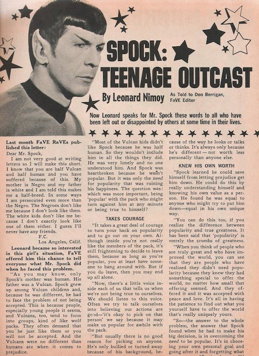 Leonard Nimoy's Letter to All of Us