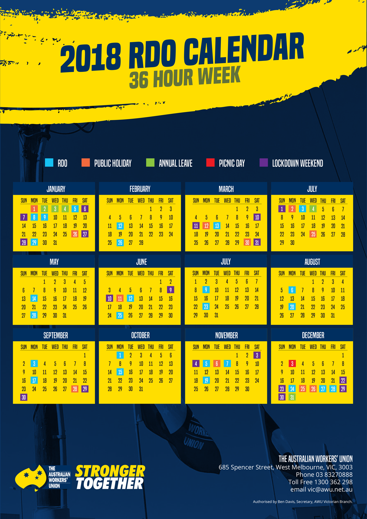 2018 36 Hour Rdo Calendar The Worker Medium