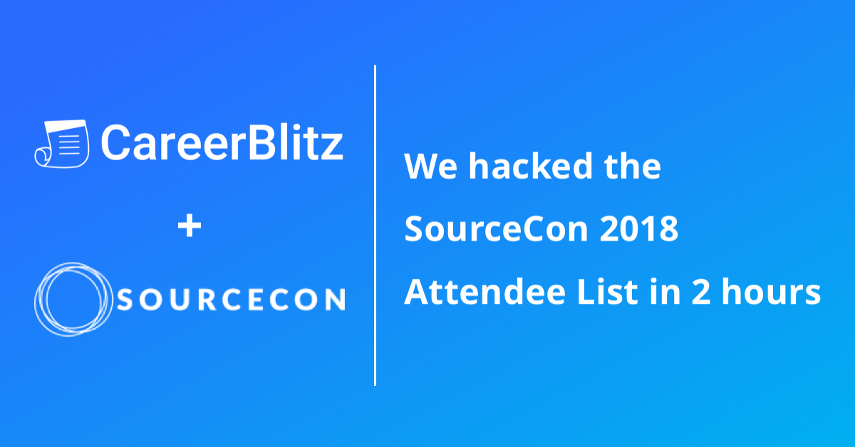 how we hacked the sourcecon 2018 attendee list in 2 hours