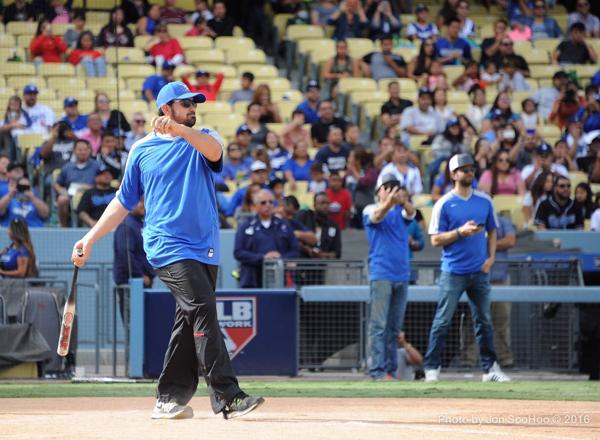 Dodgers Host Celebrity Softball Game Stock Photos and ...