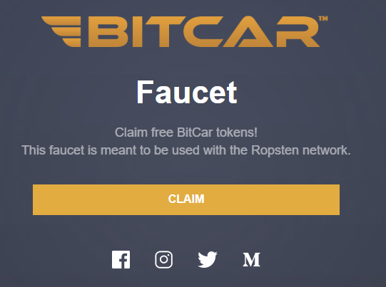 BitCar Ropsten Launch Guide Part 1—Testnet and Faucets