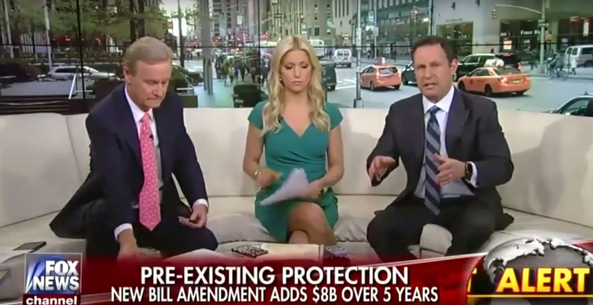 Fox News host says health care for people with pre-existing conditions is a 'luxury'