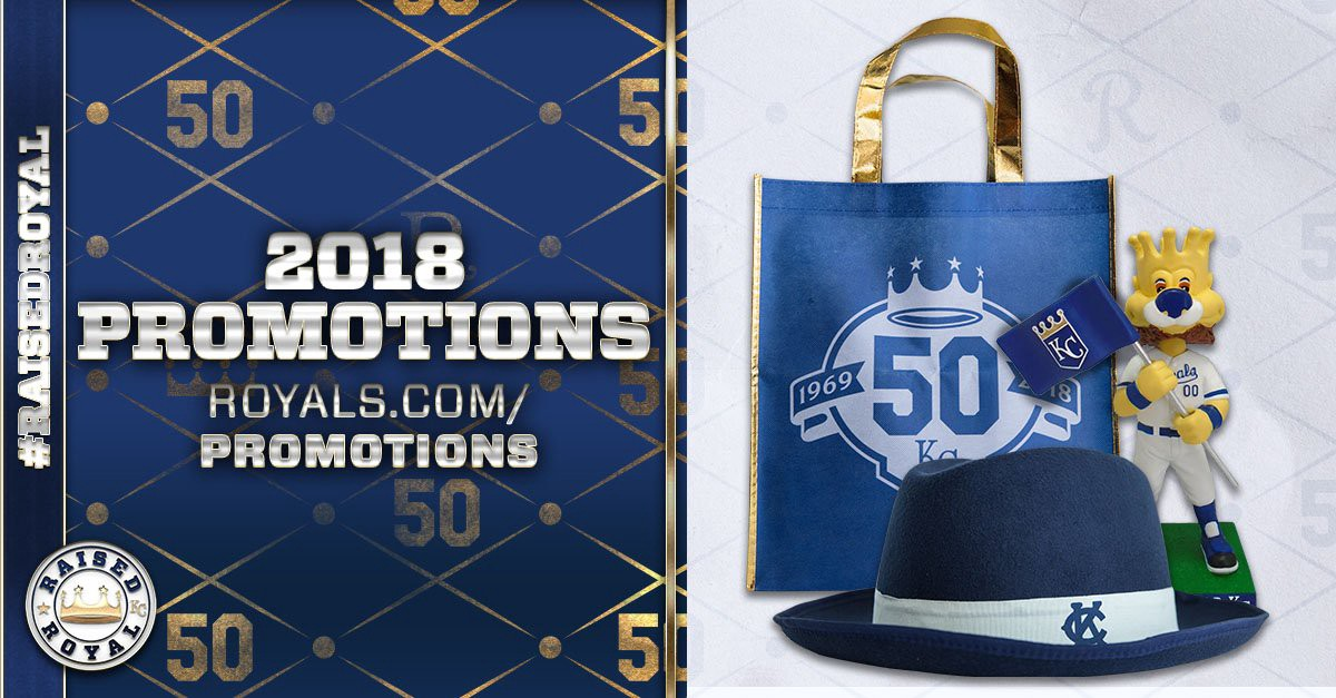 As the upcoming season approaches, the Kansas City Royals are excited to announce the promotions, Theme Tickets and special events calendar. This year's schedule highlights the 50th Season Celebration, with themed weekends full of events, giveaways and community elements.