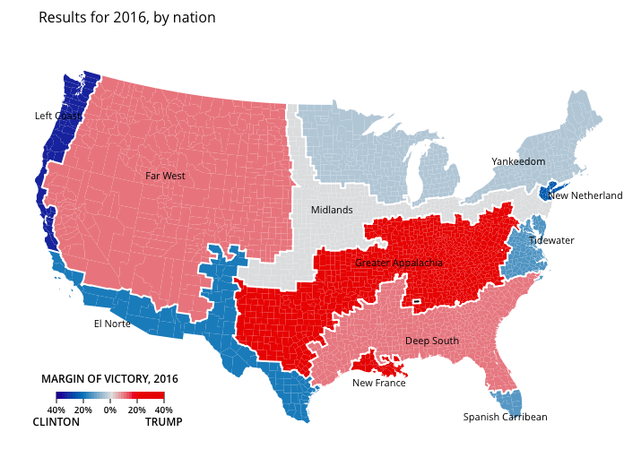 The American Nations Trumpism And The 2016 Elections