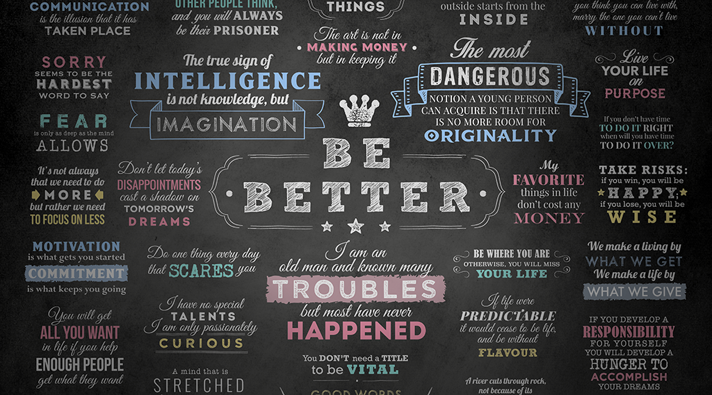 Always Strive To Improve Yourself To Become Better Today: Can Two Simple Words Make Life Better?