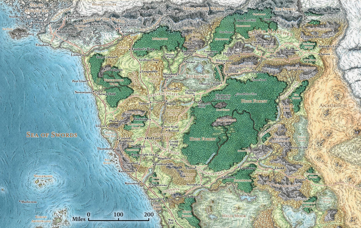 Fantasy styled map of France