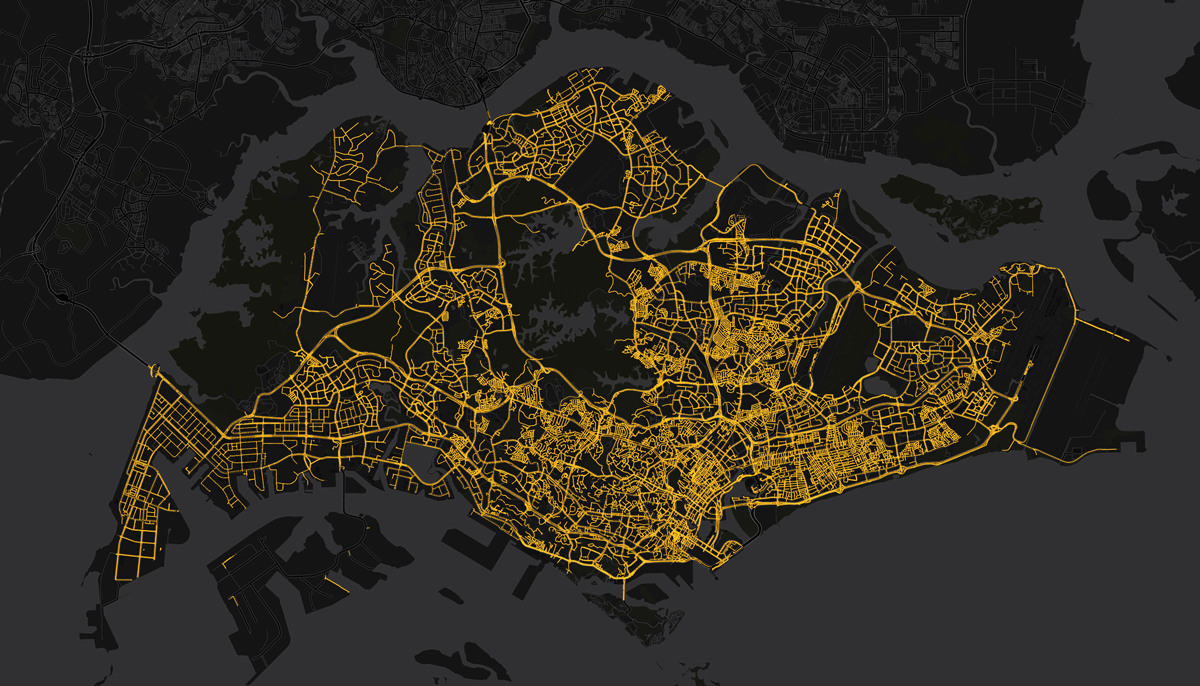 Welcome to the new data now in public beta data blog not a photograph from space but a map of singapores lamp posts dataset publicscrutiny Gallery