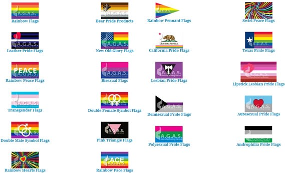 from Braydon pictures of different gay flags