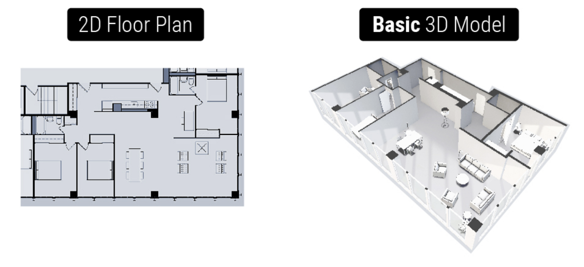 Get a free web based 3d floor plan of your apartment for Turn floor plan into 3d model