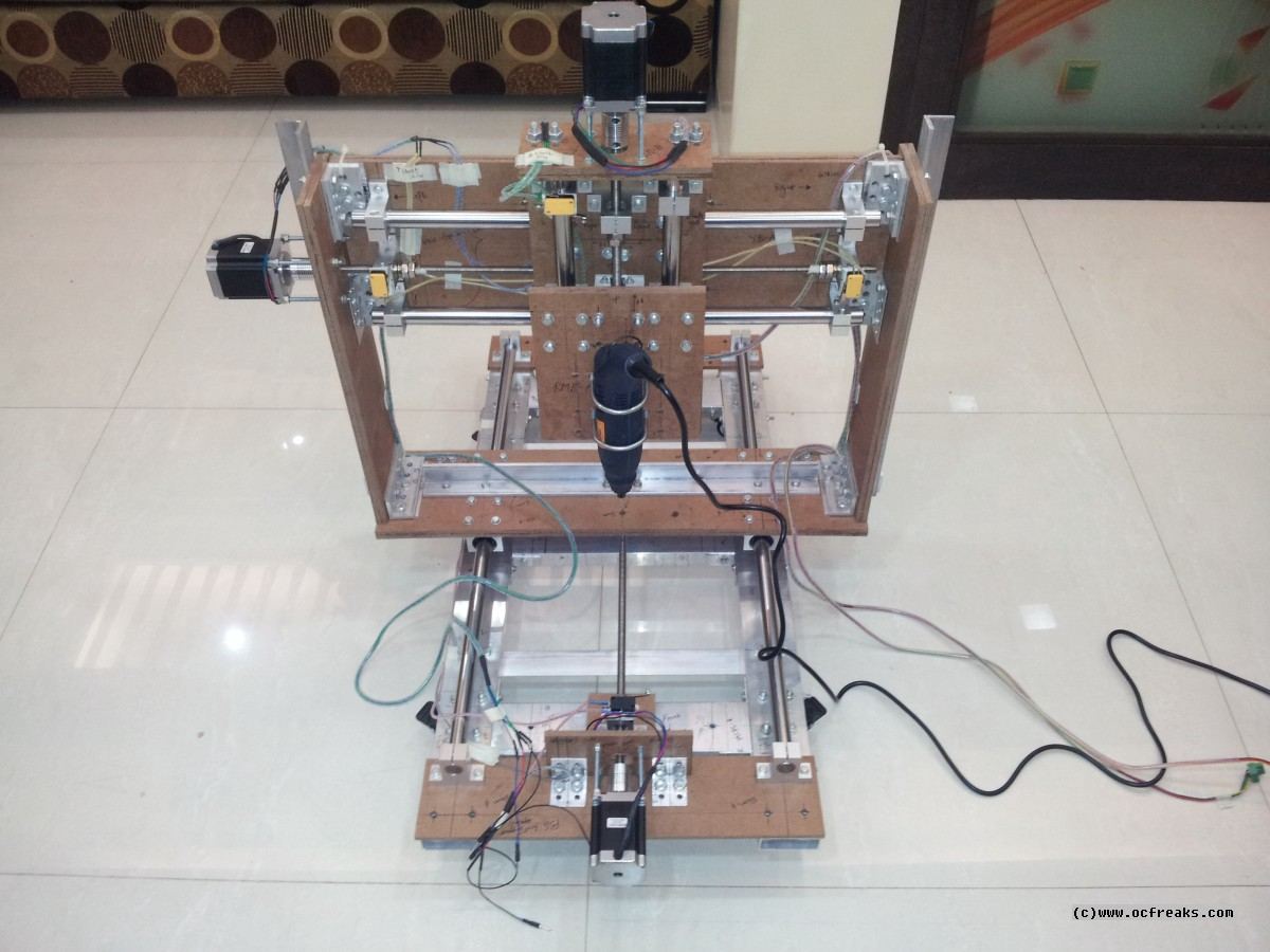 Diy Cnc Router Kit Is Finished For An Open Test Roctech Cnc Router