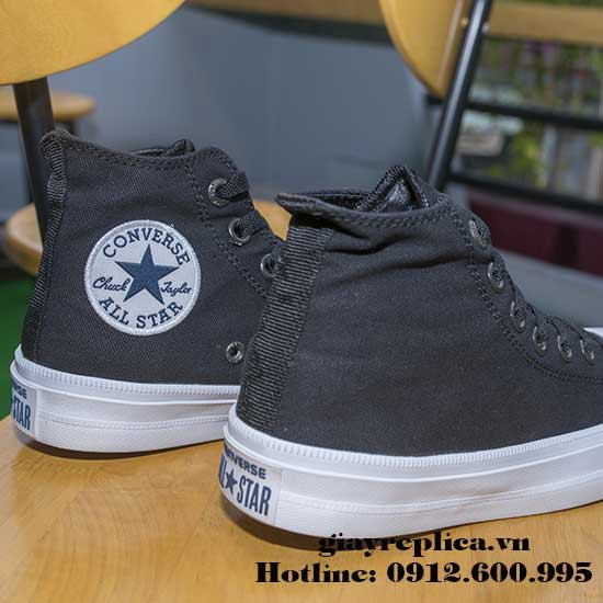23a99e1f3ab6 Giay Converse Chuck II Den Co Cao Gia Re – Replica Store – Medium