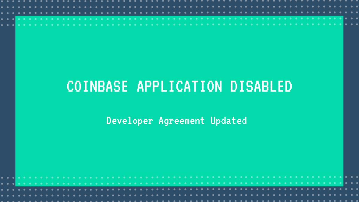 QnA VBage What is Coinbase's 'Application Disabled' error and how to resolve it?