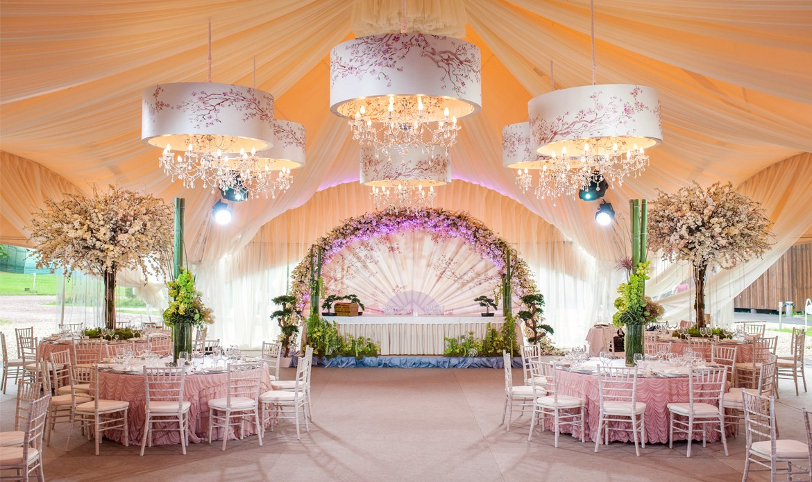 Wedding Ceiling Drapes With Lights Add Stars To Your Event