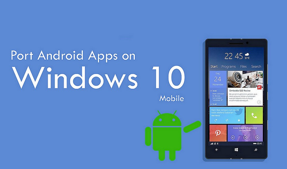 windows phone 10 android apps