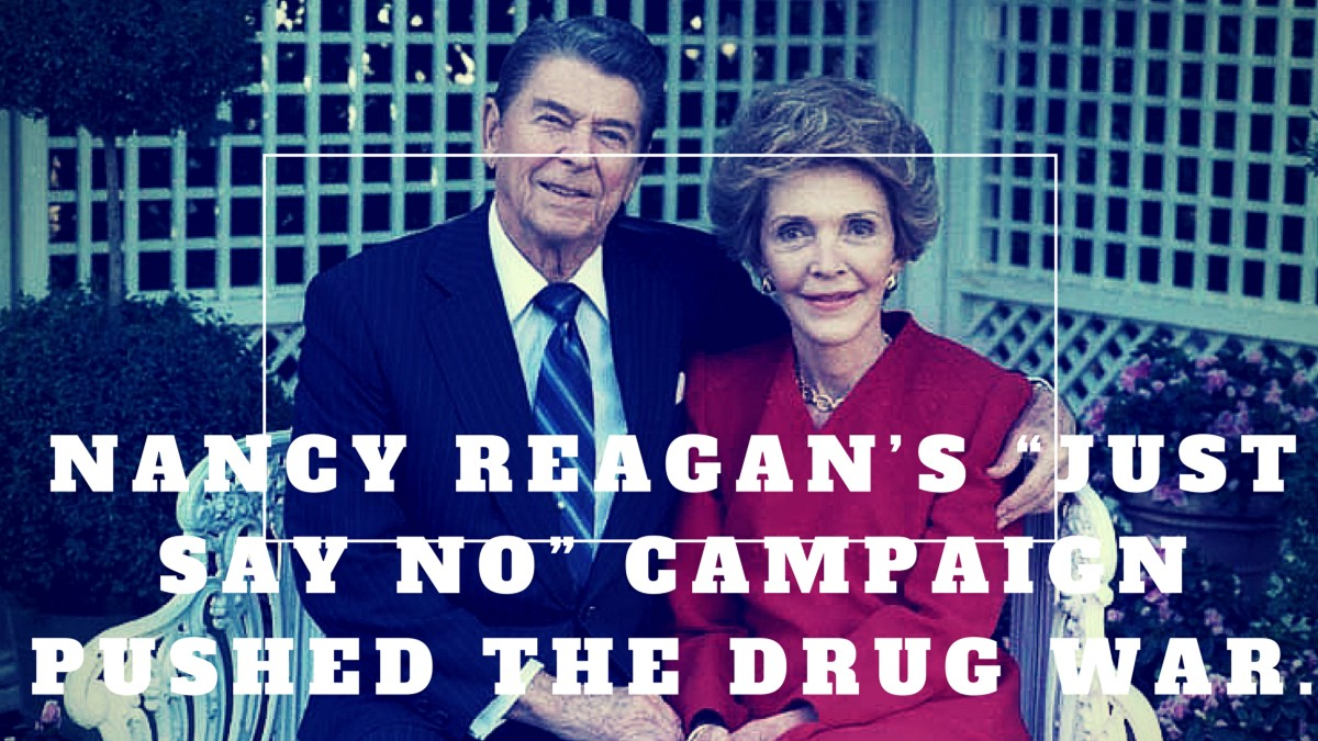 reagan s war on drugs a never The drug war has helped swell america's prison and jail population to 22 million people it was a time when nancy reagan's maxim -- just say no to.