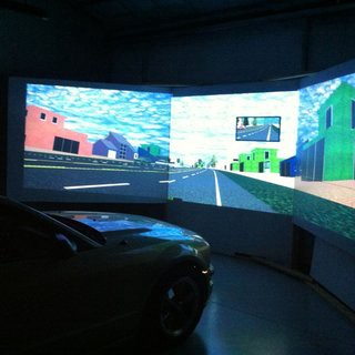 The car simulation participants were driving into