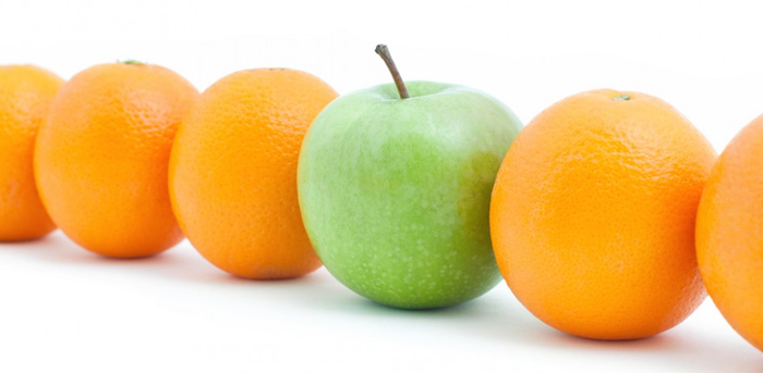 apples and oranges compare and contrast