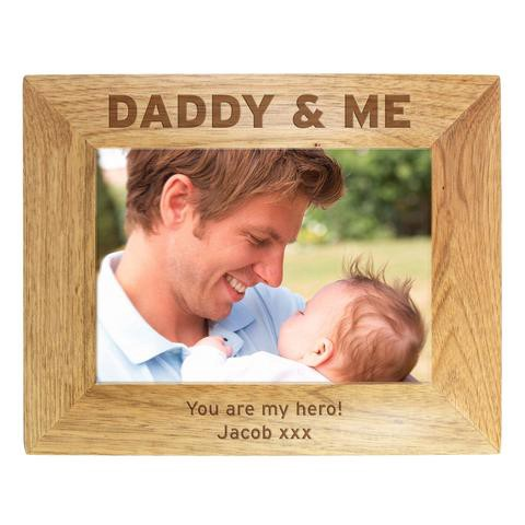 Personalised Daddy Me Photo Large Glass Frames Maggie Tuczapska
