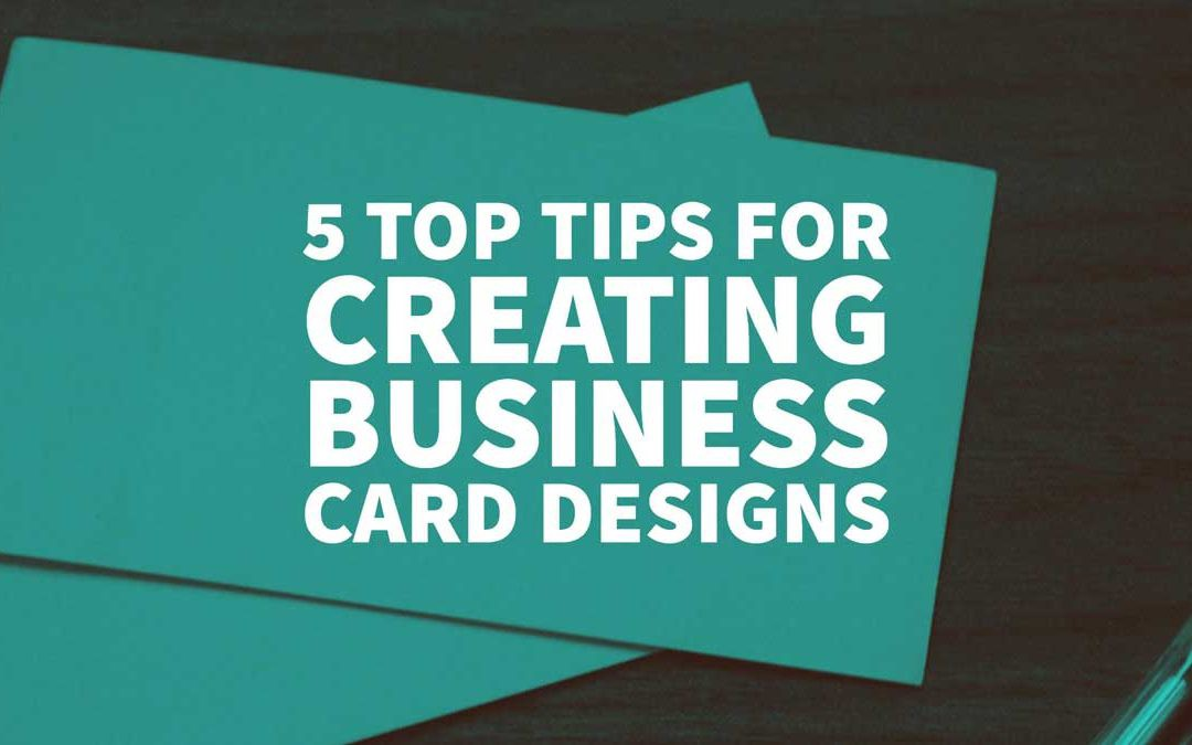 5 Top Tips For Creating Business Card Designs Inkbot Design Medium