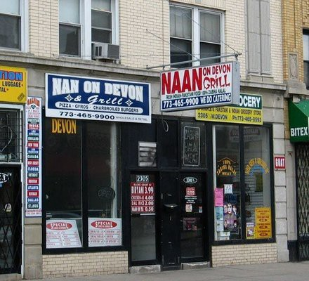 Two Restaurants Showing The Mix Of American And Indian Stani Cultures On West Devon Avenue From Background Research Internet