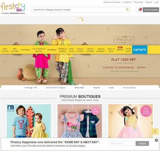 3744a53ffb FirstCry is the best online store to shop from the enticing range of baby  clothes, baby products, baby accessories along with useful products and  clothing ...