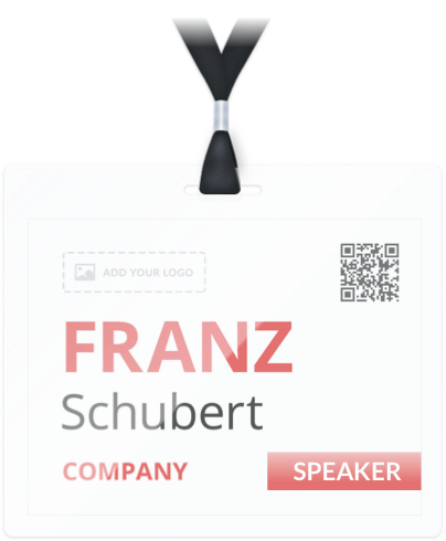 How To Print Name Badges Conference Badge - Conference badge design template