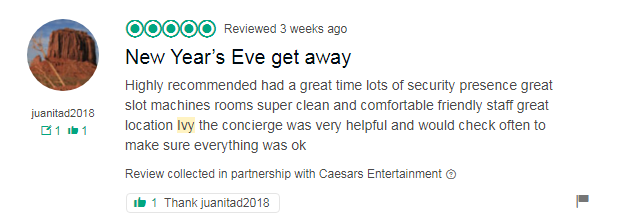 Here Is A Compilation Of Recent Guest Reviews At Caesars Palace In Las Vegas New Years Eve