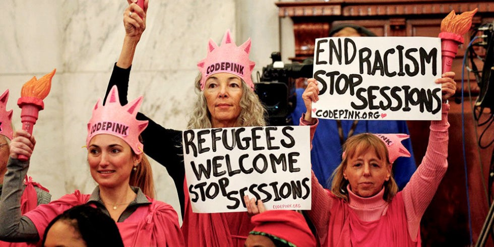 Laughing at Jeff Sessions — In a case that sounds like it could be in the  Handmaids Tales, a Code Pink activist, Desiree Fairooz, was convicted and  found ...