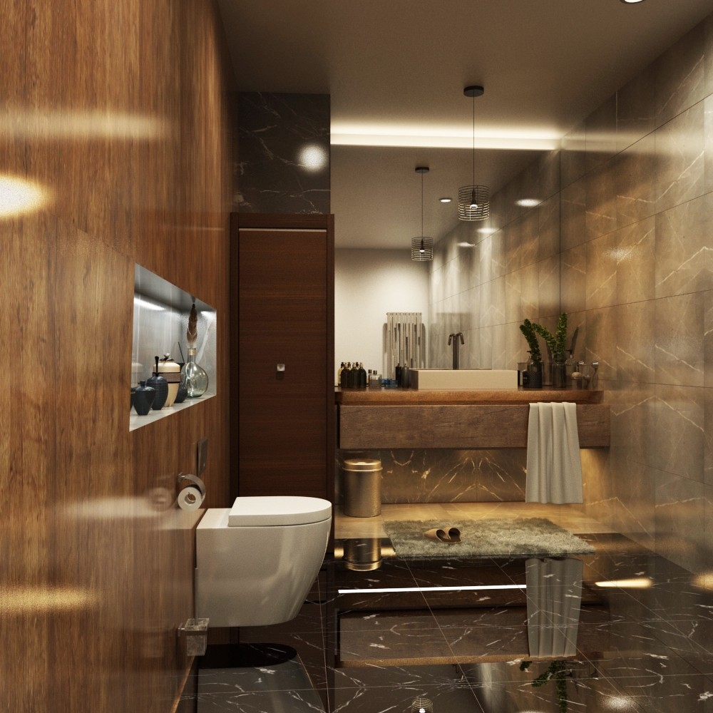 3D Rendering Services Los Angeles, California For Bathroom Project