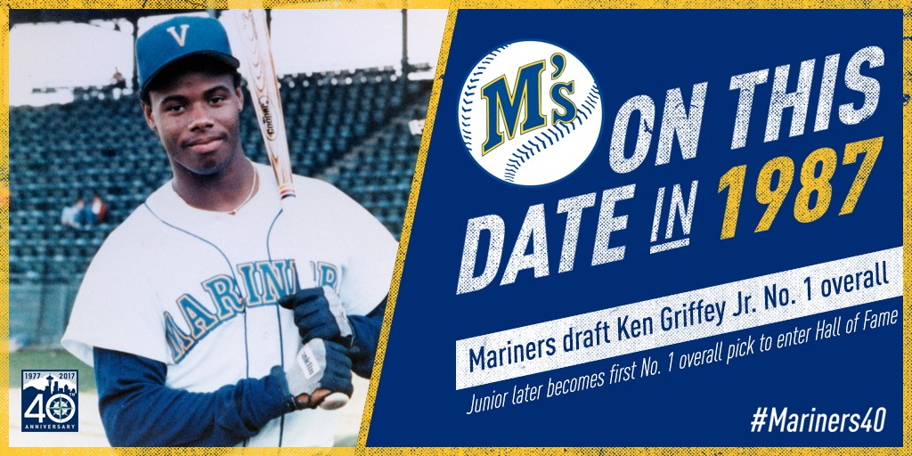 1c406b08d4 On This Date: Mariners Select Ken Griffey Jr. #1 Overall in 1987 Draft