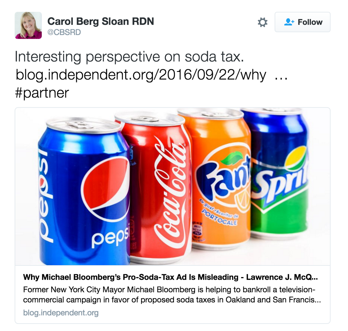 Is Coke Paying Dietitians To Tweet Against the Soda Tax? thumbnail
