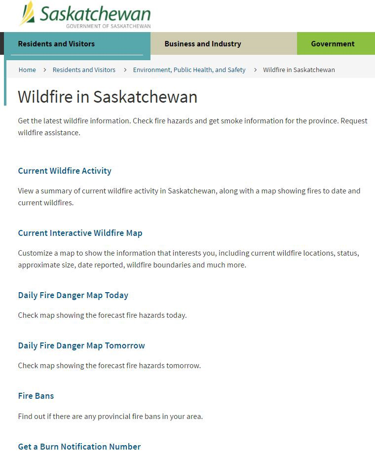 Saskatchewan Public Needs Better Wildfire Reporting - Us-wildfire-activity-map