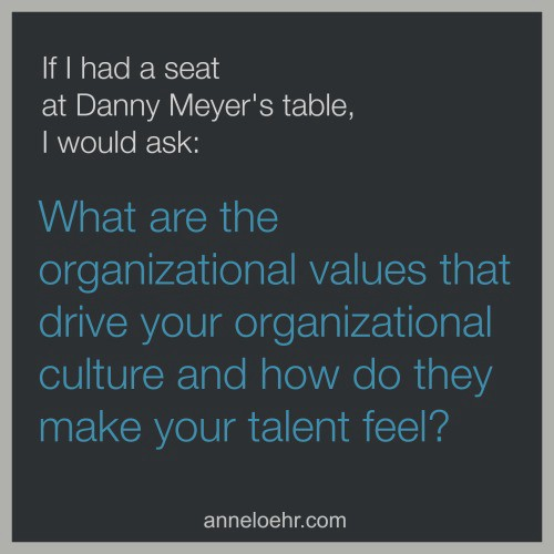 If I had a seat at Danny Meyeru0027s table I would ask u201cWhat are the organizational values that drive your organizational culture and how do they make your ...  sc 1 st  Medium & What I Would Ask Danny Meyer About Leadership If I Had a Seat At ...