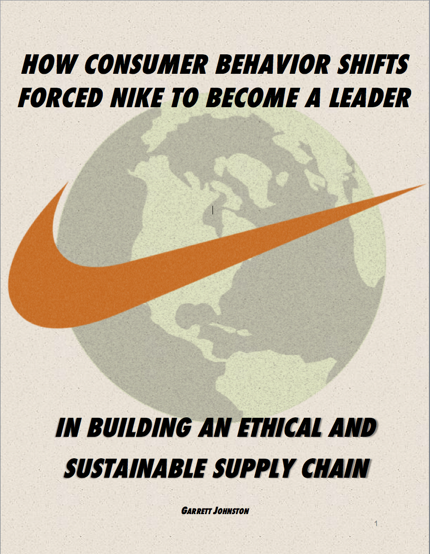 how consumer behavior shifts forced nike to become a