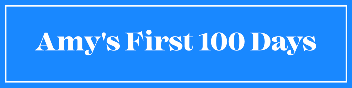 Amy's First 100 Days