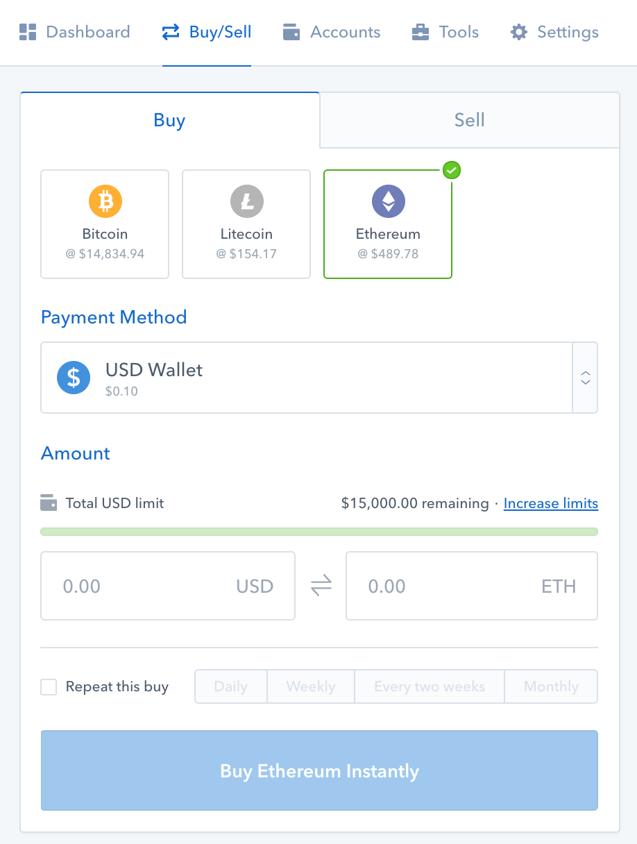 Transfer BTC or ETH to Binance from GDAX