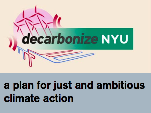 """nyu climate activists bring forth """"decarbonize"""" initiative"""