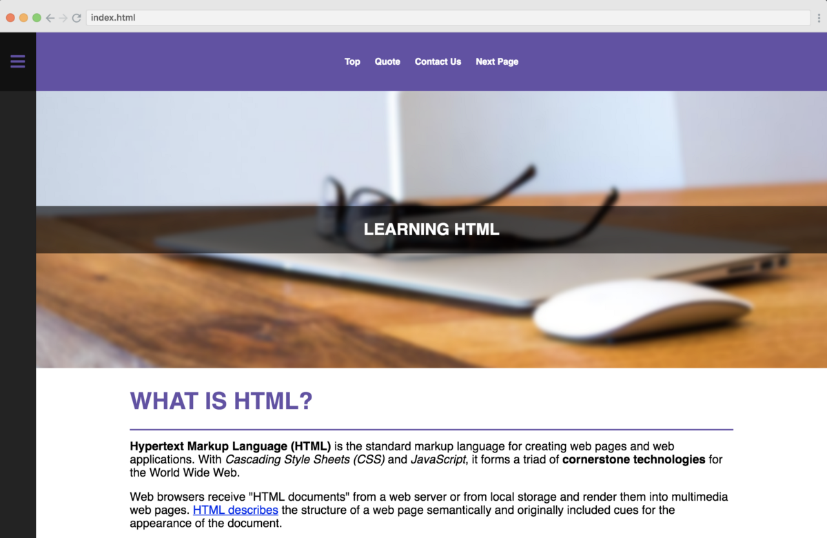 Free tutorials on HTML, CSS and PHP - Build your own ...