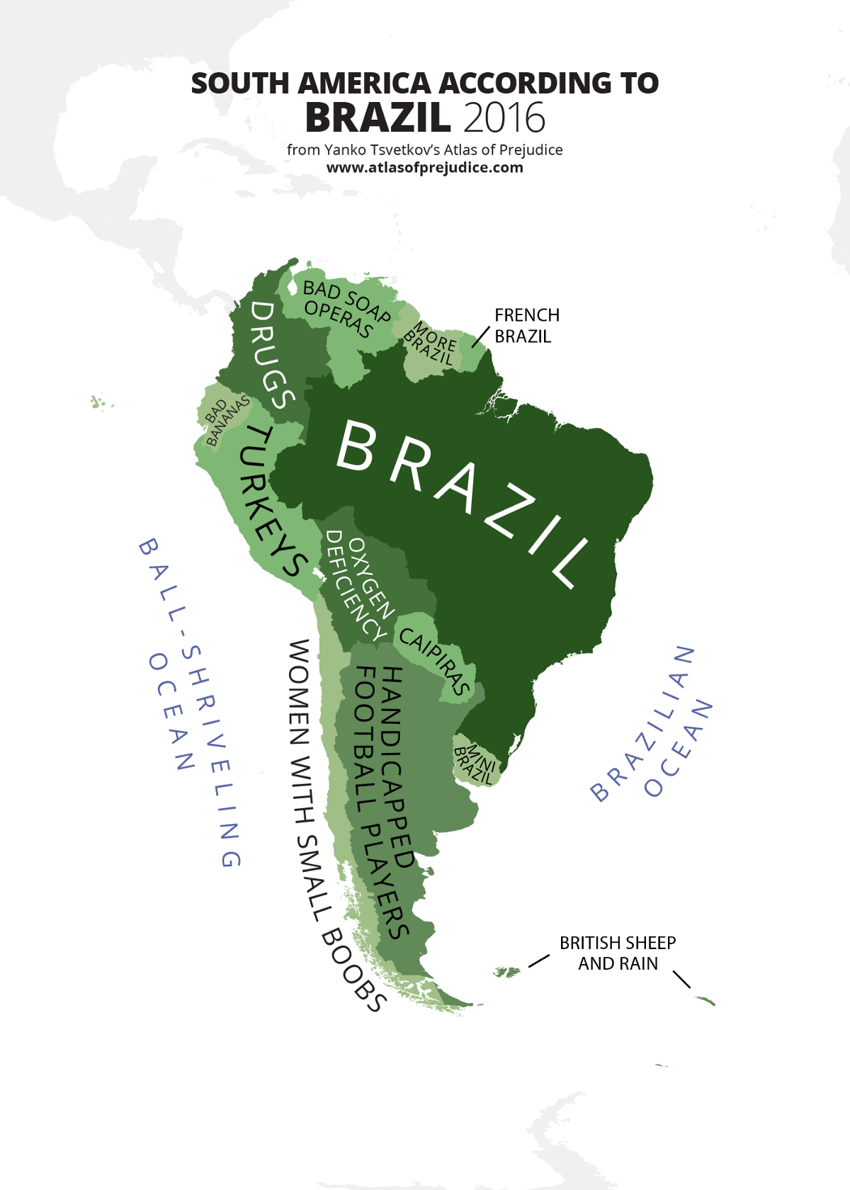 map of cities in south america
