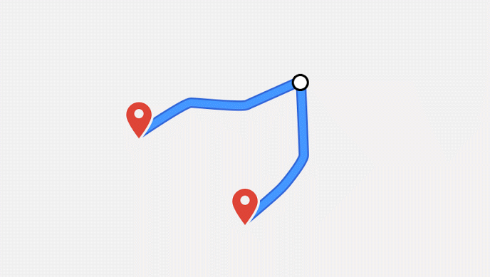 how to set up a route on google maps app
