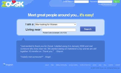 zoosk dating sign in