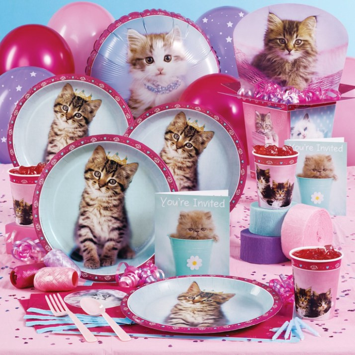 Kitten Birthday Party Supplies