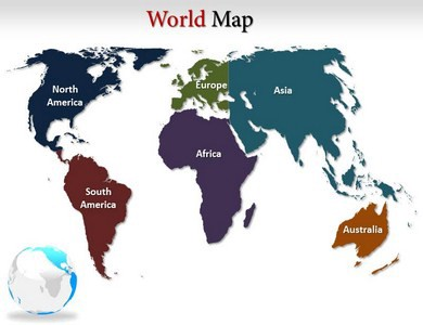 world map power point