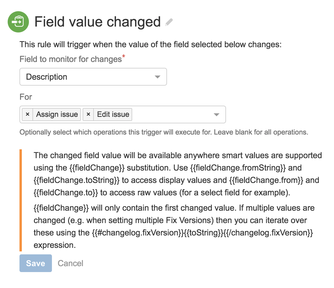 Automatically Update Issues When A Jira Issue Field Value Changes