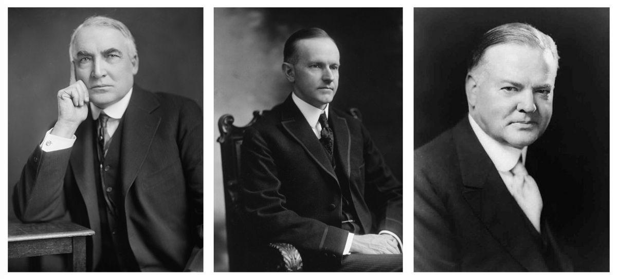 harding coolidge and hoover Hoover meanwhile argued that the long-term solution lay in  and which continued into the coolidge administration harding did not know about these dealings until.