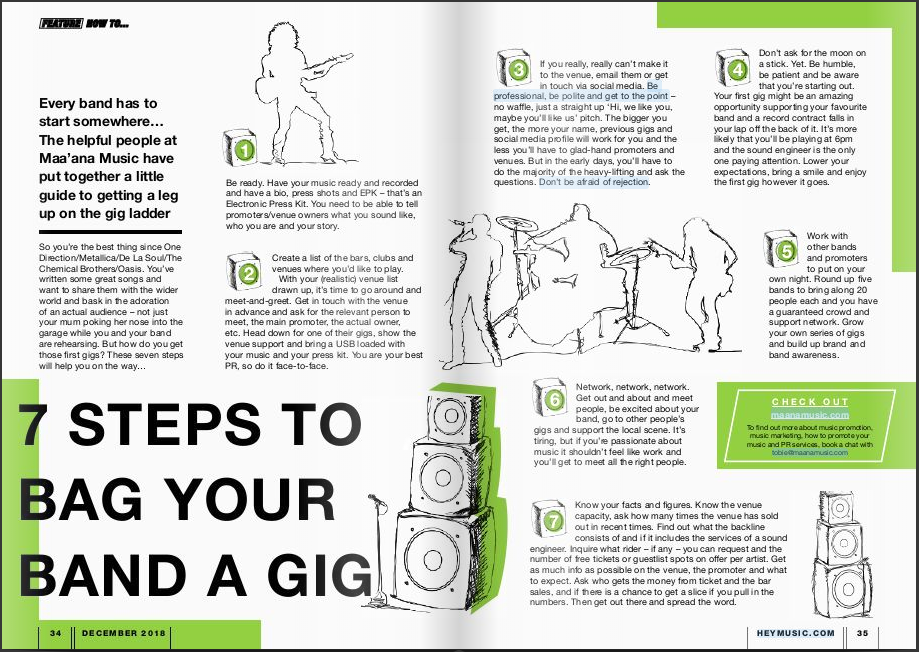 7 STEPS TO BAG YOUR BAND A GIG – Hey Music Official – Medium