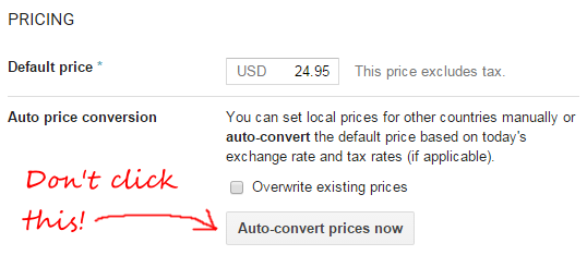 Just Multiply Your Us Price By Each Currency S Exchange Rate Right The Google Play Developer Console Even Helpfully Provides A On To Do This