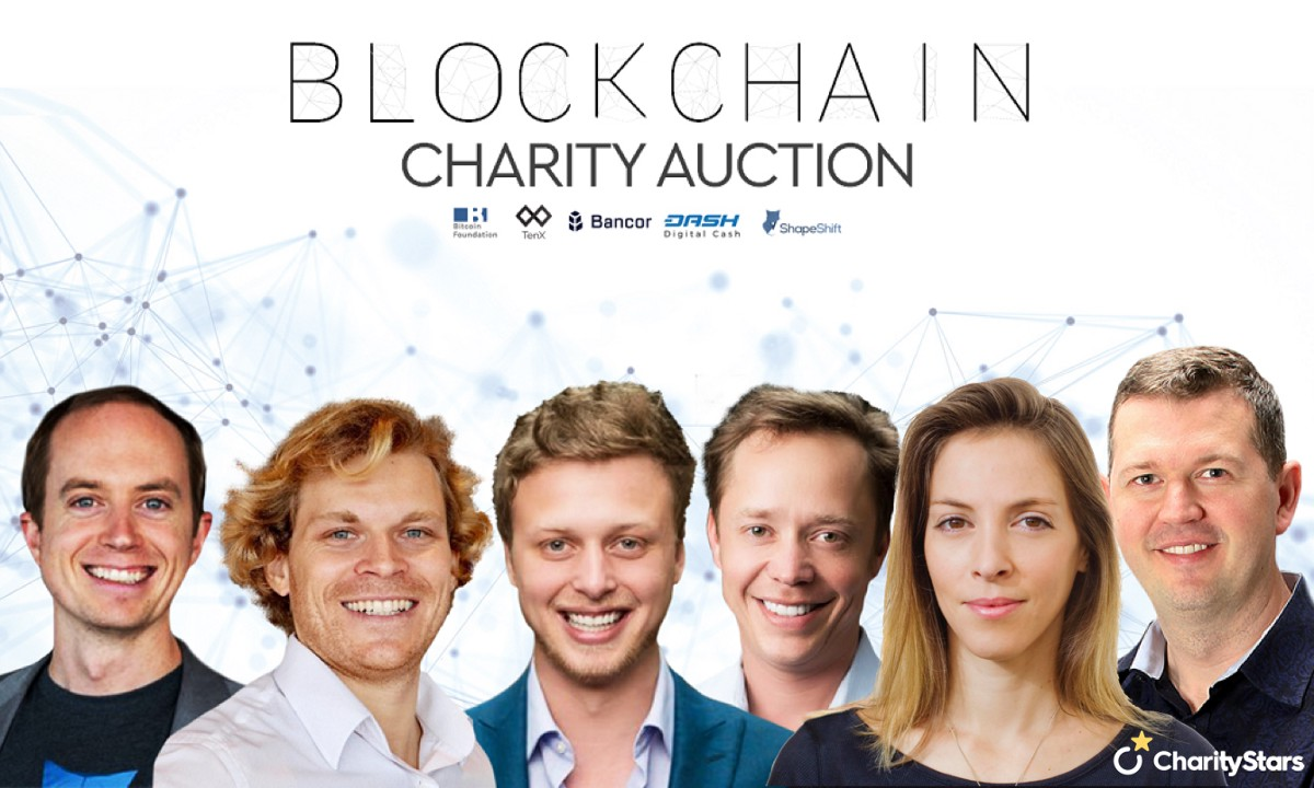 Blockchain Luminaries Give Back with CharityStars Online Auction